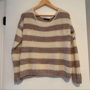 Suzy Shier | Striped Knit Sweater